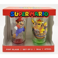 Super Mario Pint Glass Set of 2