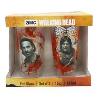 The Walking Dead Pint Glass Set of 2