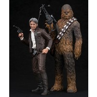 Han Solo & Chewbacca The Force Awakens 1/10 Scale Figure 2 Pk